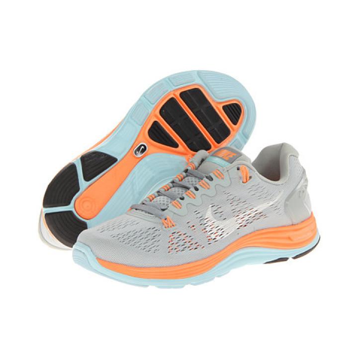 Кроссовки Nike Lunarglide+ 5 серые с оранжевым в Украине